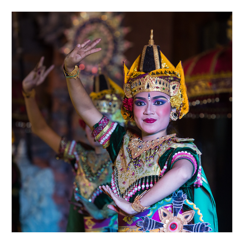 photo of a balinese dancer in Ubud
