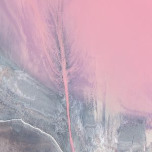 An aerial photo of the Pink Lake at Hutt Lagoon