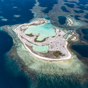 An aerial photo of the Abrolhos Islands Western Australia