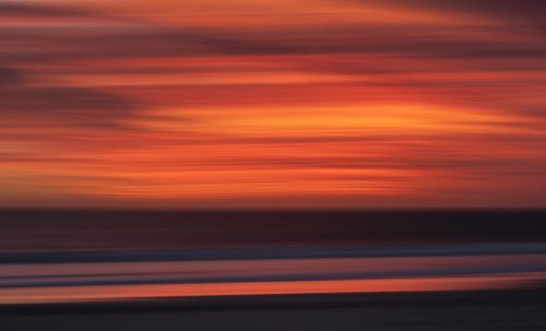 Photo of Tarcoola Beach Geraldton Sunset using in camera movement technique