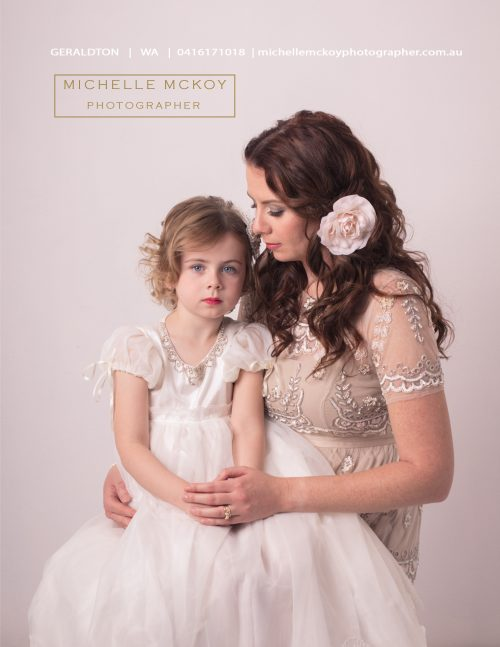 Studio portrait of Mother and Daughter Geraldton