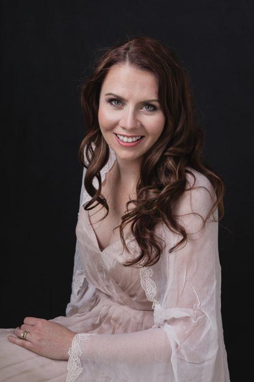 Portrait of Kristen in my studio, Geraldton