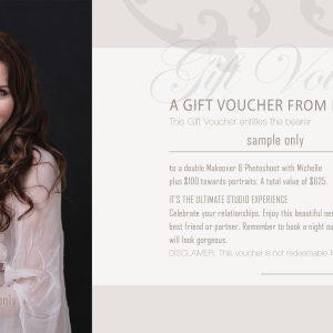 Women's glamour portrait geraldton gift voucher