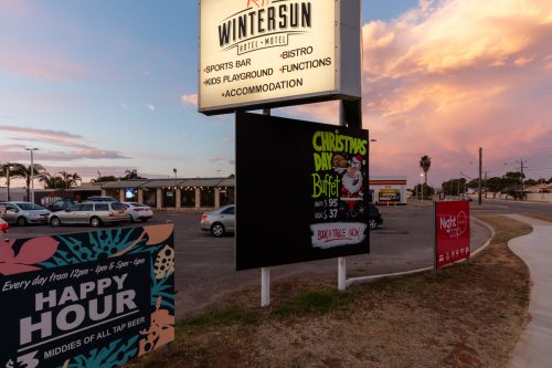 Commercial photography for the Wintersun Hotel Geraldton